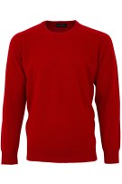 Alan Paine trui warm rood lamswol ronde hals ruime