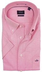 Arrow overhemd korte mouw roze regular fit