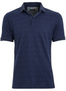 Brax Parker polo donkerblauw motief