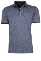 Camel Active polo donkerblauw motief