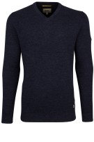 Camel Active pullover donkerblauw structuur