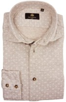 Circle of Gentlemen hemd beige motief Jaylan