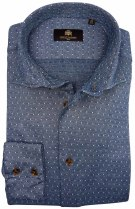 Circle of Gentlemen shirt Jefford grijsblauw motief