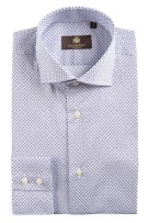 Circle of Gentlemen shirt navy print Langston