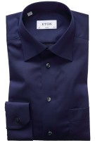 Eton classic fit shirt navy signature twill