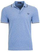 Fred Perry Twin Tipped polo blauw melange