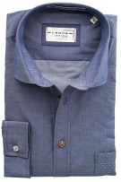 Ledub Blue Crane shirt blauw tailored fit