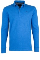 New Zealand polo lange mouw blauw