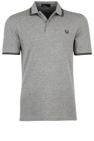 Polo Fred Perry grijs melange twin tipped