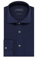 Profuomo knitted overhemd donkerblauw