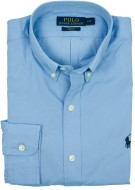 Ralph Lauren hemd zacht blauw slim fit button-down