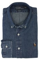 Ralph Lauren overhemd donker denim slim fit