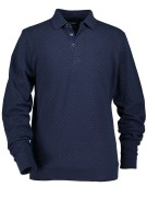 State of Art polo lange mouw navy motief