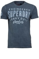 Superdry t-shirt blauw vintage look