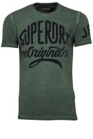 Superdry t-shirt workwear over dyed groen