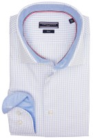 Tommy Hilfiger overhemd blauw ruit fitted