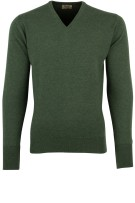 William Lockie pullover groen cashmere