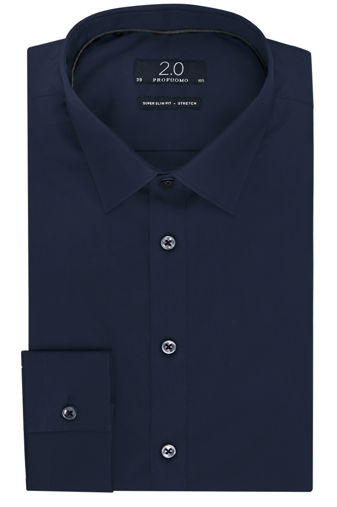 Profuomo 2.0 overhemd navy super slim fit