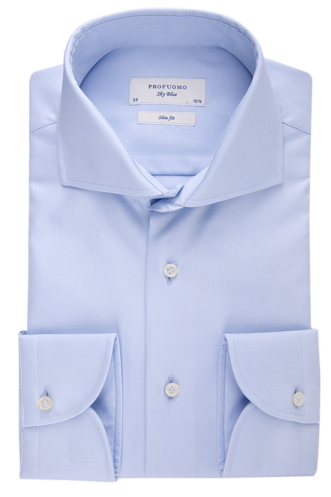 SALE Profuomo overhemd slim fit sky blue two ply