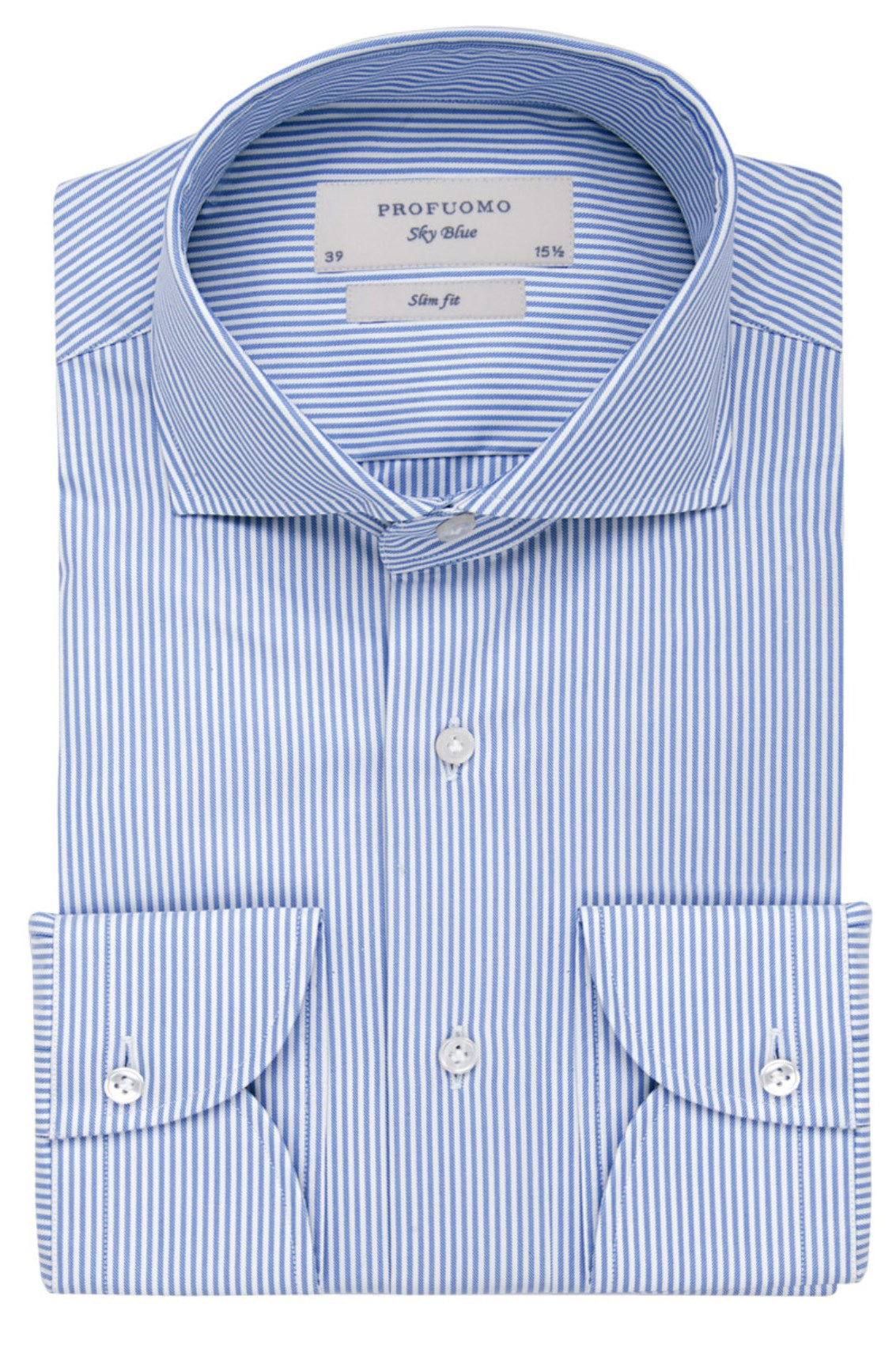 SALE Profuomo shirt slim fit two ply streepdessin