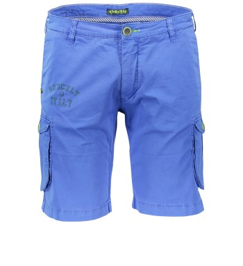 Shockly Short Blauw Effen Normale fit