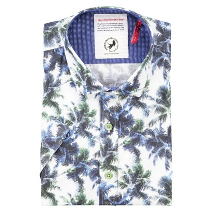 Shirt A Fish Named Fred palmprint  blauw groen