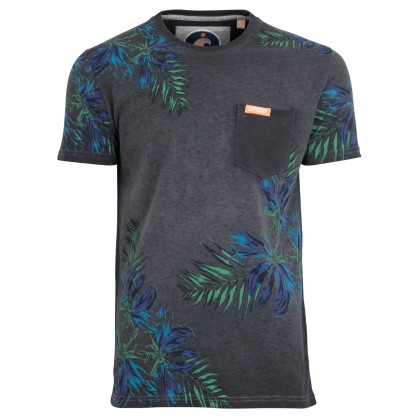 Superdry california pocket T-shirt navy motief