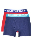 2-pack boxershorts Superdry rood blauw