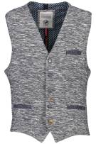 A Fish Named Fred Gilet Donkerblauw Gemêleerd Slim fit