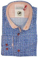 A Fish Named Fred shirt blauw motief oranje contrast