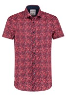 A Fish Named Fred shirt korte mouw print rood