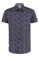 A Fish Named Fred shirt print navy korte mouw