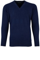 Alan Paine pullover blauw lamswol
