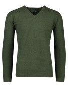 Alan Paine pullover groen lamswol v-hals