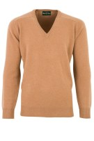 Alan Paine trui camel classic fit lamswol Hampshire