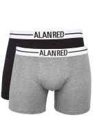 Alan Red boxershorts 2-pack Grijs