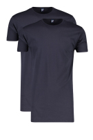 Alan Red T-shirt Donkerblauw Effen Normale fit