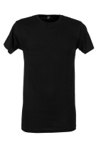 Alan Red T-shirt Zwart Effen Normale fit Derby Long
