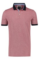 Baileys Polo Extra Lang Rood Print Normale fit