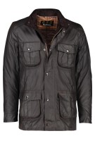 Barbour jas wax Corbridge rustiekbruin capuchon in kraag