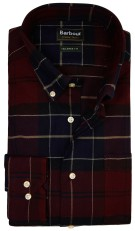 Barbour Lustleigh shirt bordeaux ruit