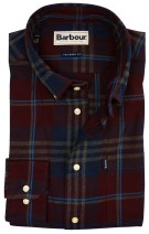 Barbour overhemd geruit bordeaux tailored fit