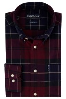 Barbour shirt geruit bordeaux Tailored Fit
