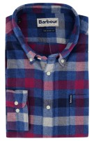 Barbour Tailored Fit overhemd ruit blauw rood
