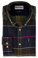 Blauw geruit shirt Barbour Tailored Fit