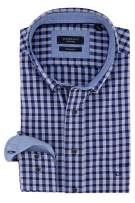 Blauw geruit shirt Giordano Regular Fit
