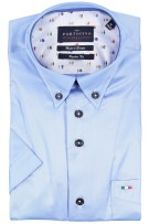 Blauw shirt Portofino regular fit korte mouw