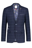 Blazer navy geruit A Fish Named Fred