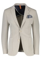 Blue Industry Colbert Beige Structuur Slim fit