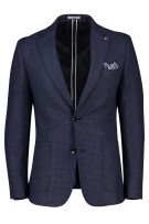 Blue Industry colbert navy geruit